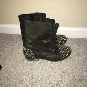 Steven Madden studded combat boots size 7 in women